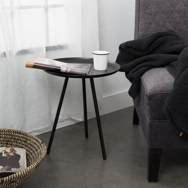 Sivý odkladací stolík Frost