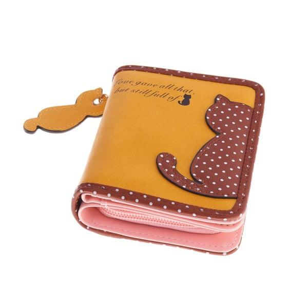 Malá peňaženka Cat, žltá