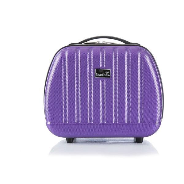 Fialový cestovný kufor s príručnou batožinou Bluestar