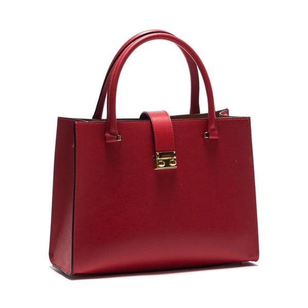 Kožená kabelka Anna Luchini 448 Rosso