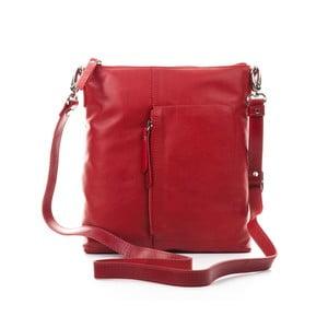 Červená kožená kabelka Gianni Conti Laelia