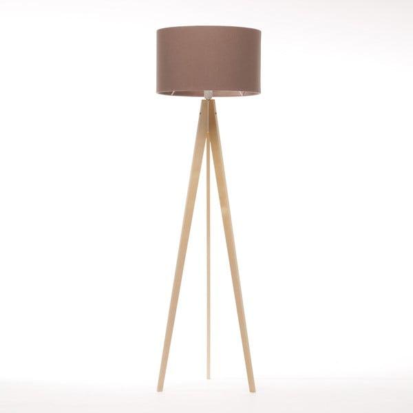 Stojacia lampa Artist Dark Taupe Felt/Natural, 125x42 cm