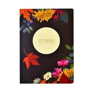 Zápisník A5 Portico Designs Autumn Floral Flexi, 160 strán