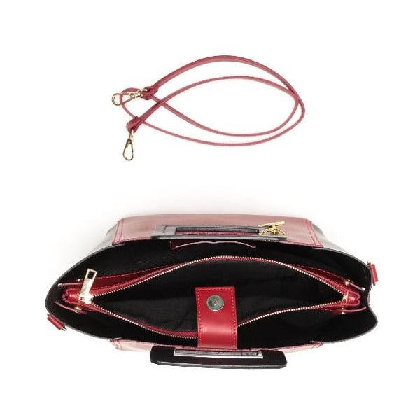 Kožená kabelka Carla Ferreri 3002 Rosso