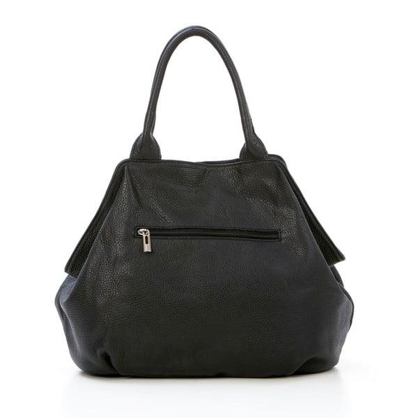 Kožená kabelka Pietro, čierna