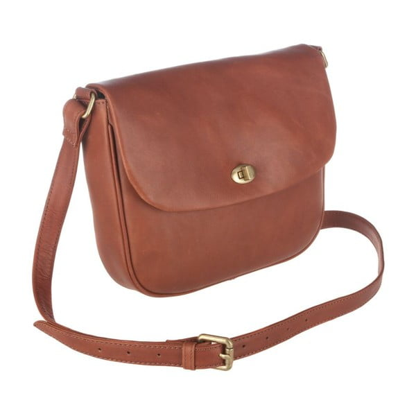 Kožená taška Gabrielle Cognac Small