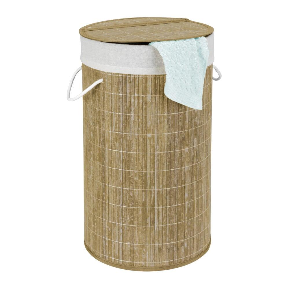 Bambusový kôš na bielizeň Wenko Bina, 55 l