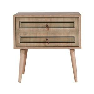 Nočný stolík s 2 zásuvkami Two Classic, 40×60 cm
