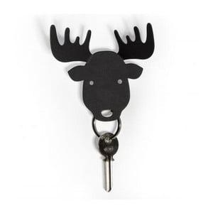 Vešiačik na kľúče QUALY Moose Key Holder, čierny