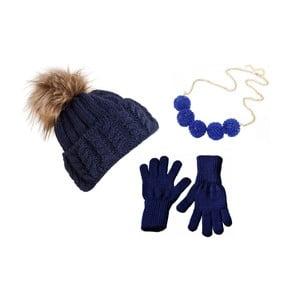 Sada čiapky, rukavíc a náhrdelníka Lavaii Dolores