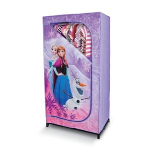 Fialová šatníková skriňa Domopak Frozen, dĺžka145 cm