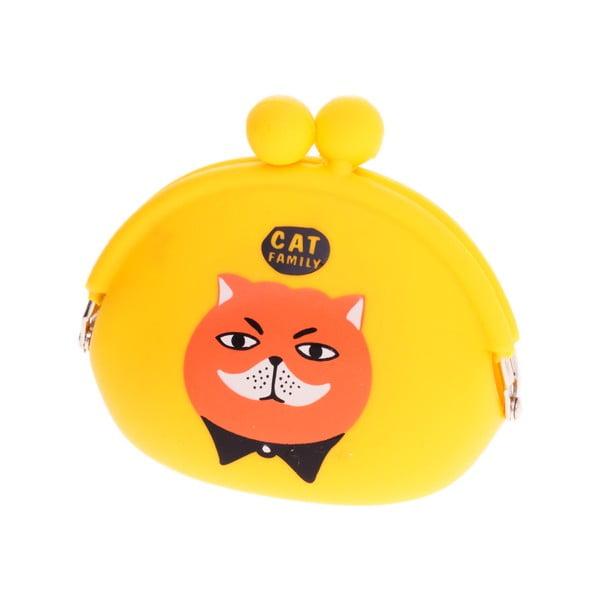 Žltá gumová peňaženka Languo Cat