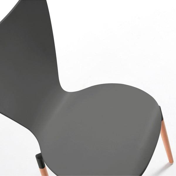 Sada 4 sivých jedálenských stoličiek La Forma Eclectic