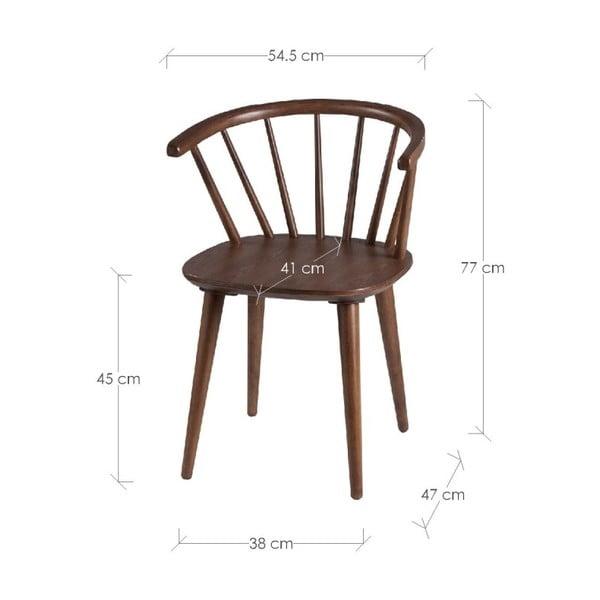 Sada 2 jedálenských stoličiek vdekore orechového dreva sømcasa Anya