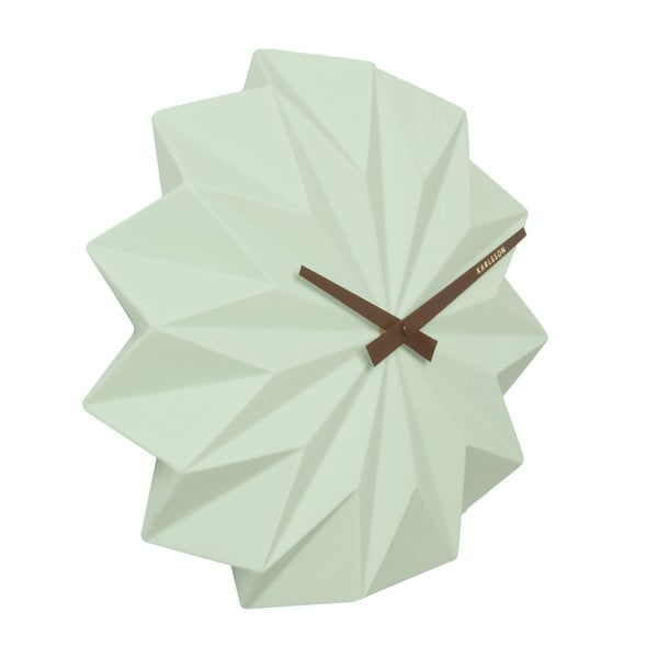 Hodiny Present Time Origami, mint