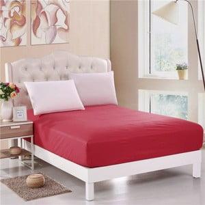 Červené neelastická bavlnená plachta na jednolôžko Purreo Muneco, 160×200 cm
