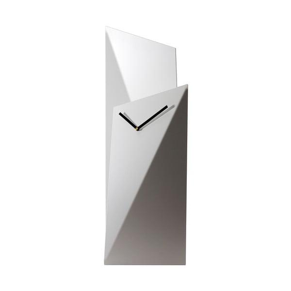 Stolné hodiny Clock 56 cm, biele