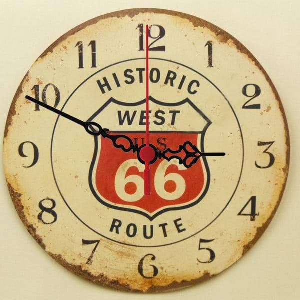 Nástenné hodiny Route 66, 30 cm