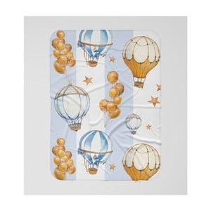 Detská deka OYO Kids Air Balloon Adventures, 120 x 160 cm