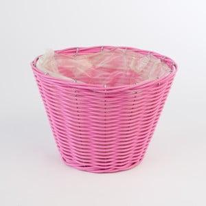 Okrúhly ratanový kvetináč Baskie Pink