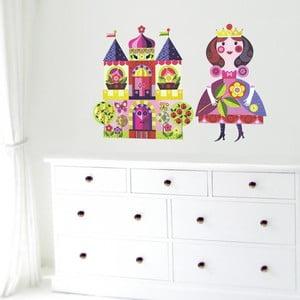 Veľké nástenné znovu snímateľné samolepky Chocovenyl Princess and Castle
