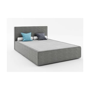 Tmavosivá dvojlôžková posteľ Absynth Mio Soft, 160×200cm