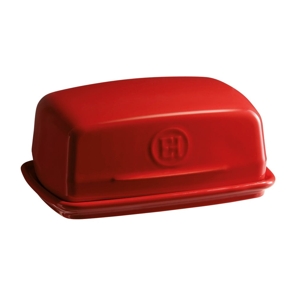 Červená nádobka na maslo Emile Henry