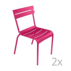 Sada 2 ružových stoličiek Fermob Luxembourg