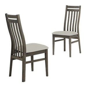Tmavohnedá jedálenská stolička s konštrukciou z dubového dreva Canett Geranium