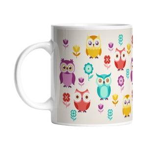 Keramický hrnček Cute Owls, 330 ml