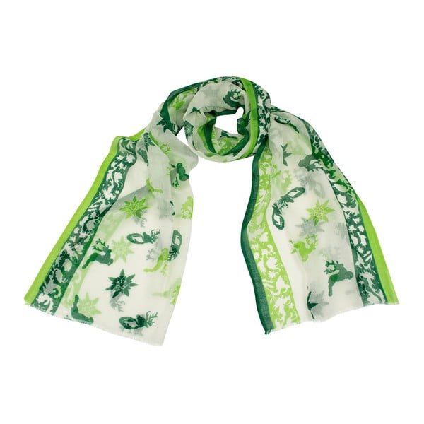 Zelená šatka Goldgeweih Leonie