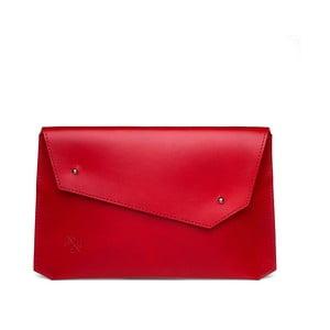 Červená kožená listová kabelka Woox Epistula