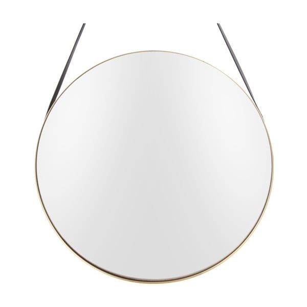 Nástenné zrkadlo s rámom v zlatej farbe PT LIVING Balanced, Ø47 cm