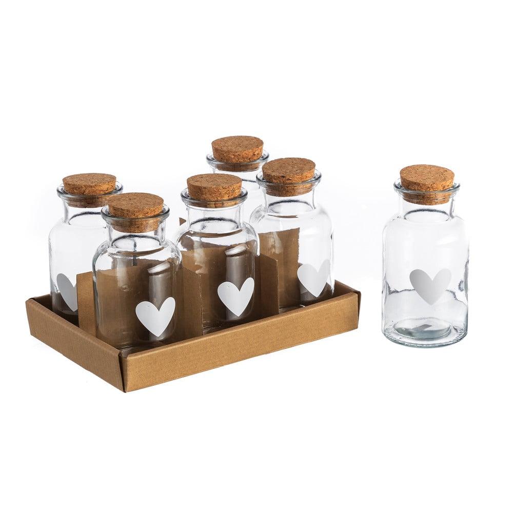 Sada 6 pohárov Heart, 250 ml