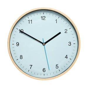 Modré nástenné hodiny Hübsch Bell, ø 31 cm