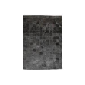 Koberec z pravej kože Modena Black, 170x240 cm