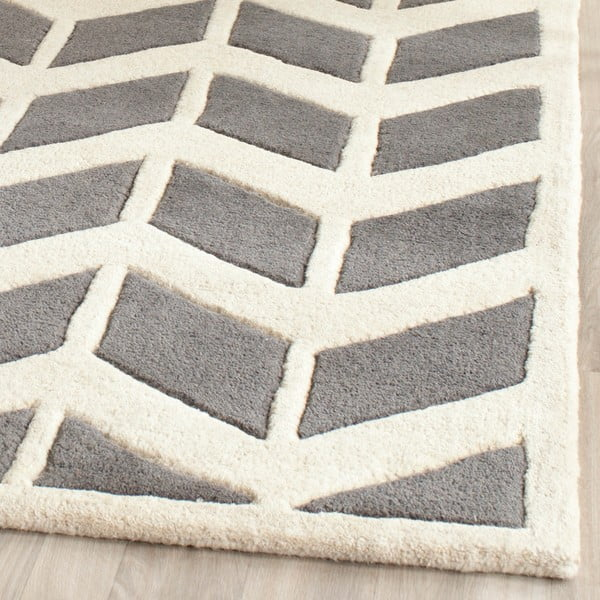 Vlnený koberec Safavieh Brenna, 121x182 cm, sivý