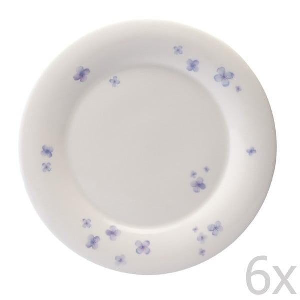 Sada 6 tanierov z kostného porcelánu Petal, 27 cm