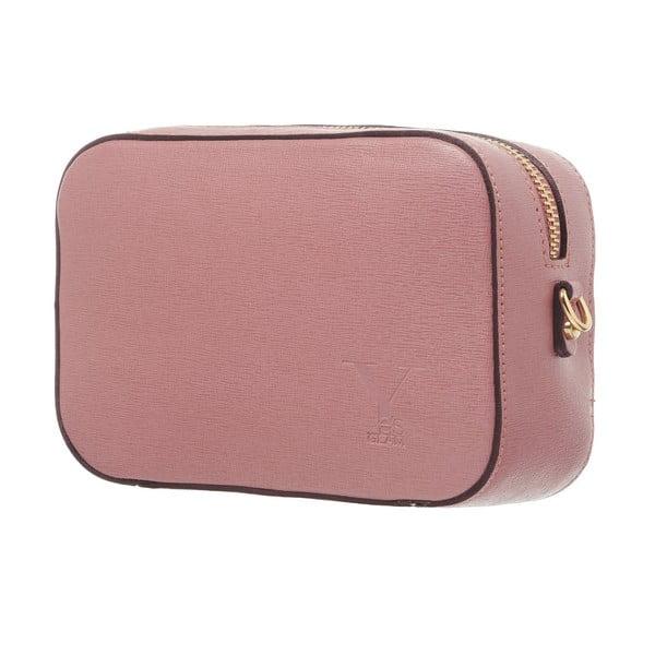 Kožená listová kabelka Little High Pink
