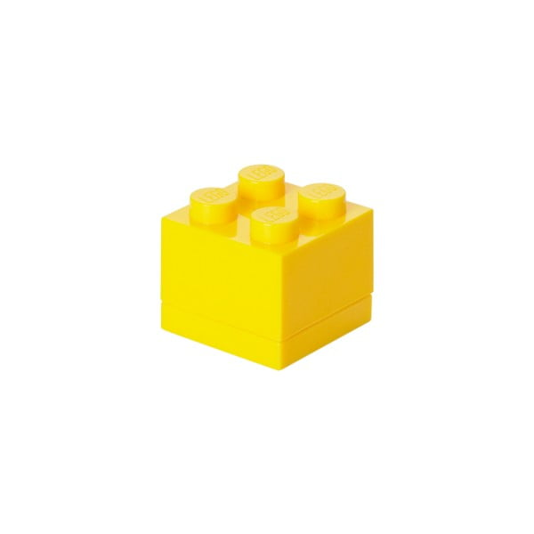 Žltý úložný box LEGO® Mini Box Yellow