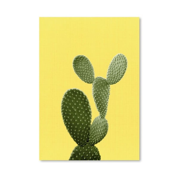 Plagát Cactus On Yellow