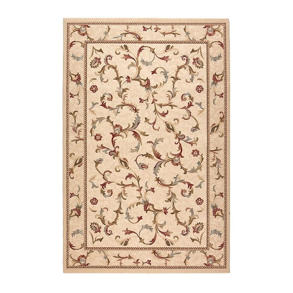 Vlnený koberec Byzan 542 Beige, 140x200 cm