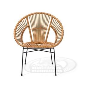 Béžová ratanová stolička Monobeli Noemi