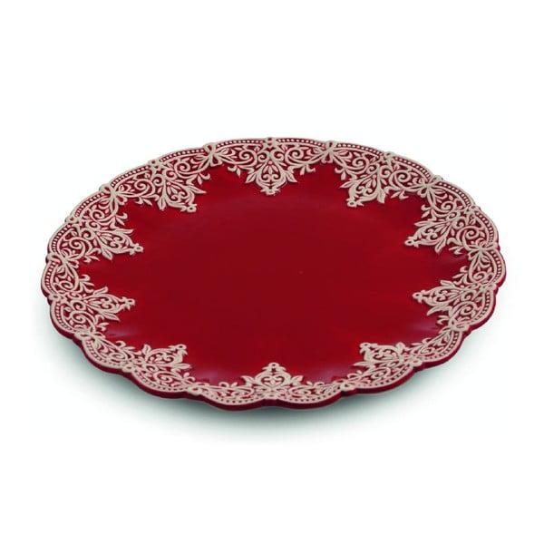 Tácka Praline Round Red