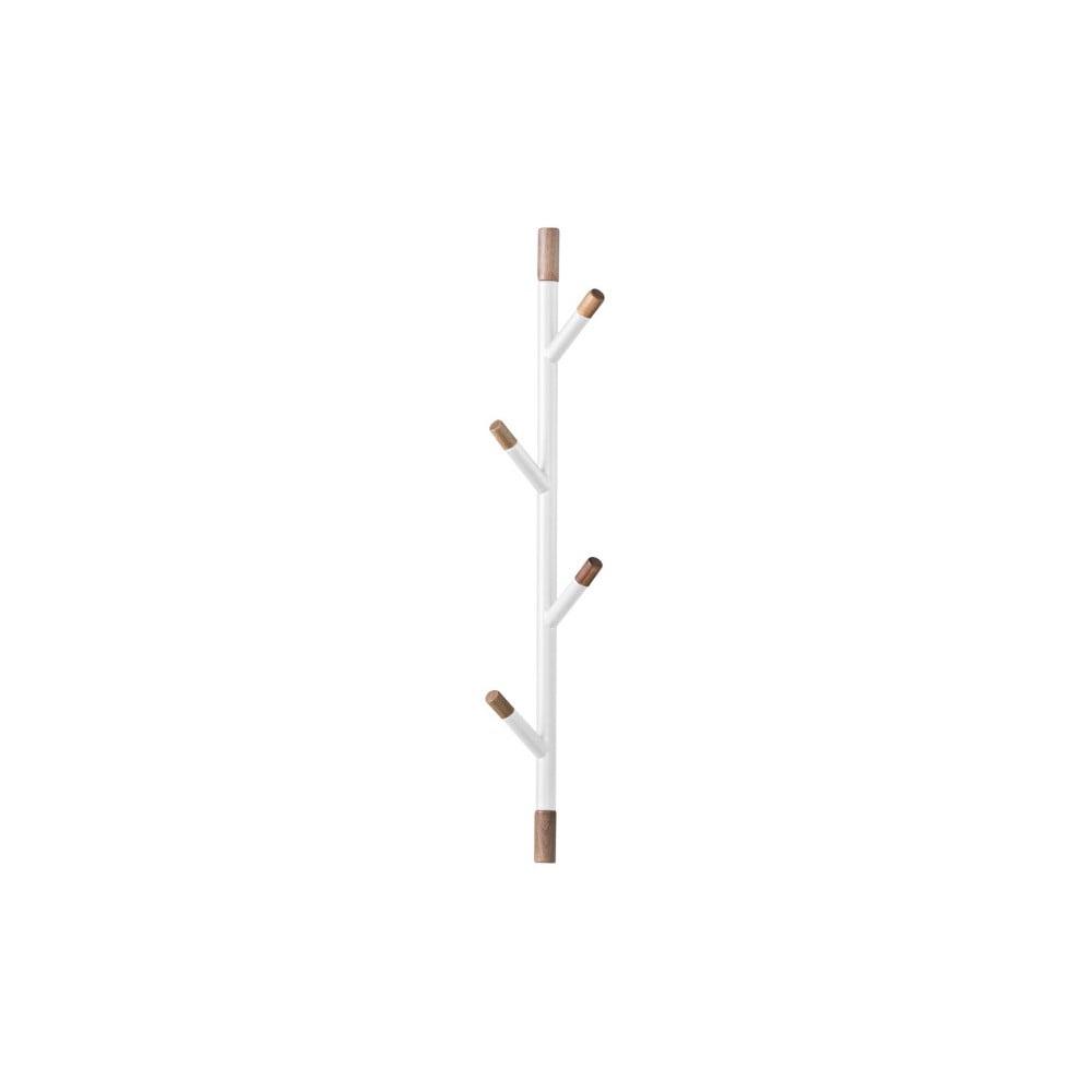 Biely nástenný vešiak z akáciového dreva PT LIVING