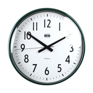 Zelené nástenné hodiny Strömshaga, Ø40 cm