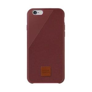 Tmavočervený obal na mobilný telefón pre iPhone 6 a 6S Plus Native Union Clic 360 Case