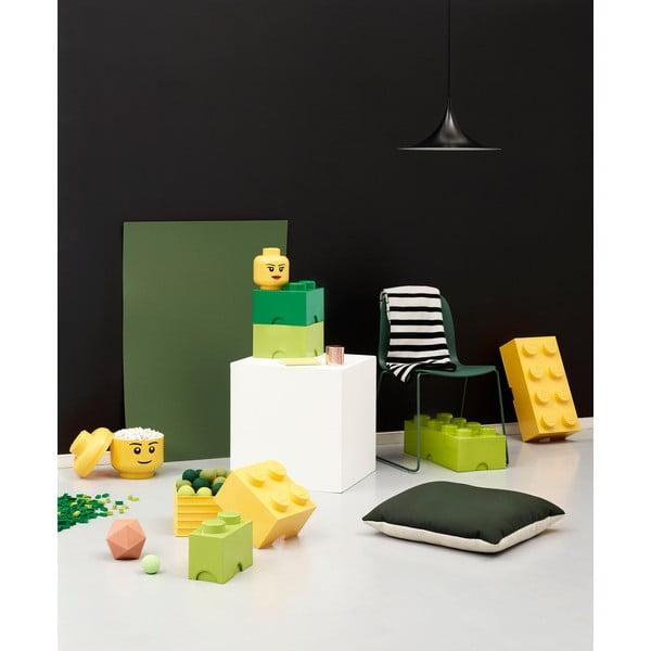 Zelený úložný okrúhly box LEGO®, ⌀ 12,5 cm