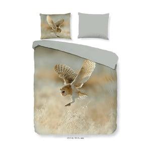 Obliečky na dvojlôžko z mikroperkálu Muller Textiels Owl, 240×200 cm