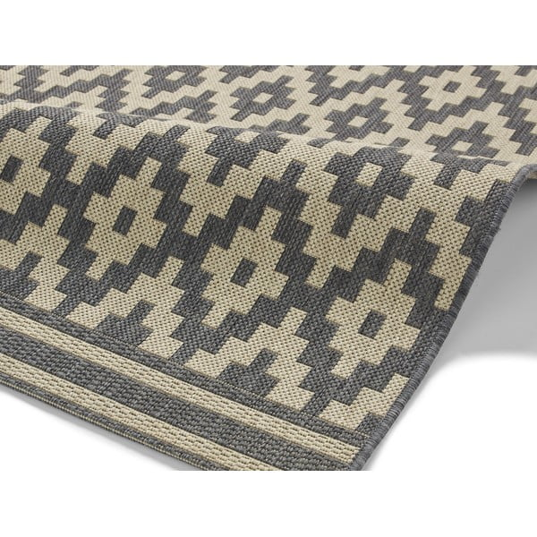 Antracitový koberec Think Rugs Cottage, 120x170cm